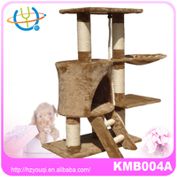 cat tree paw hut with rope hole simple type apricot color
