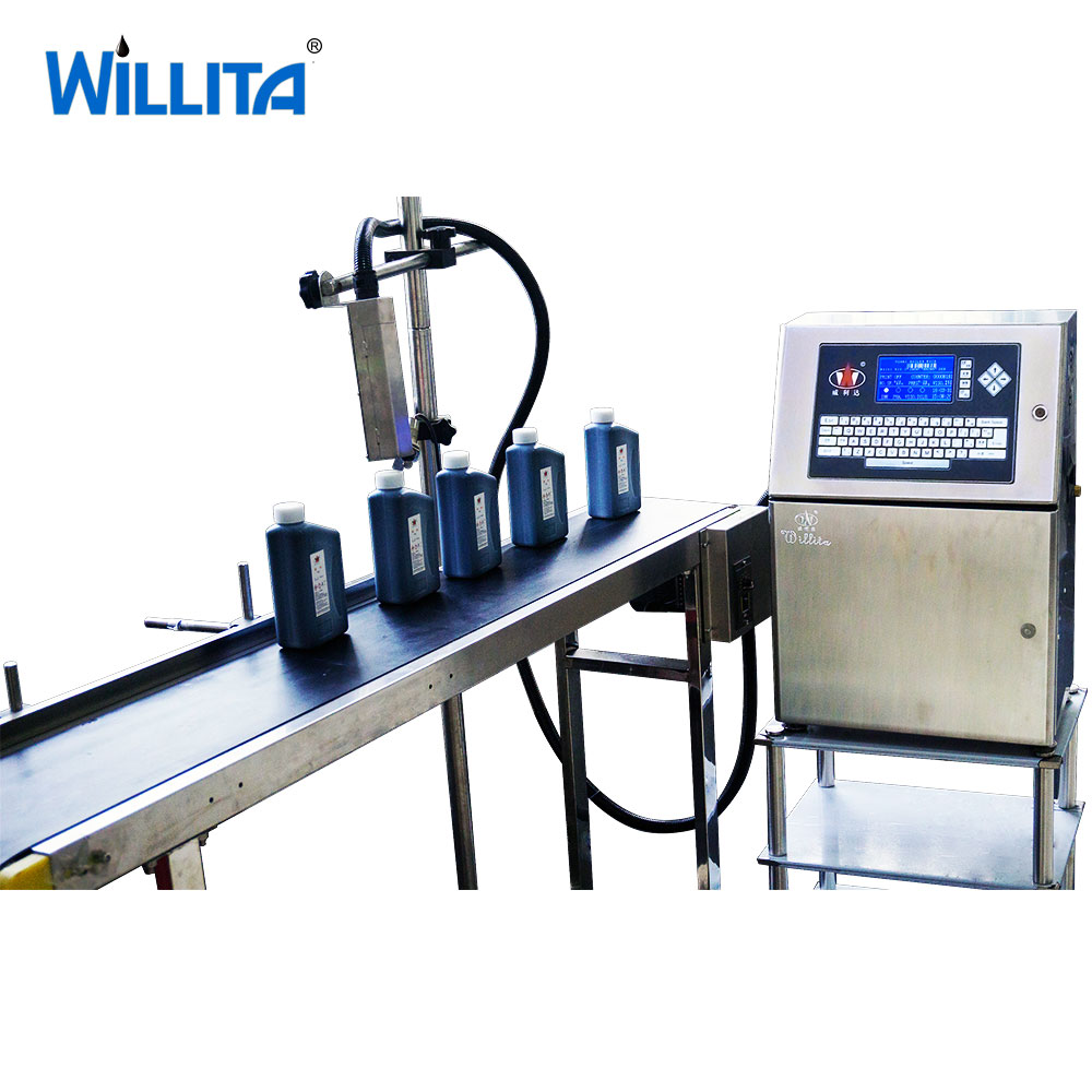 small batch code printing machine for bottle
