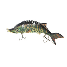 trolling lure boat type bait LD7-01sturgeon lure vivid shape nature color hard plastic fishing lures with BBK hooks