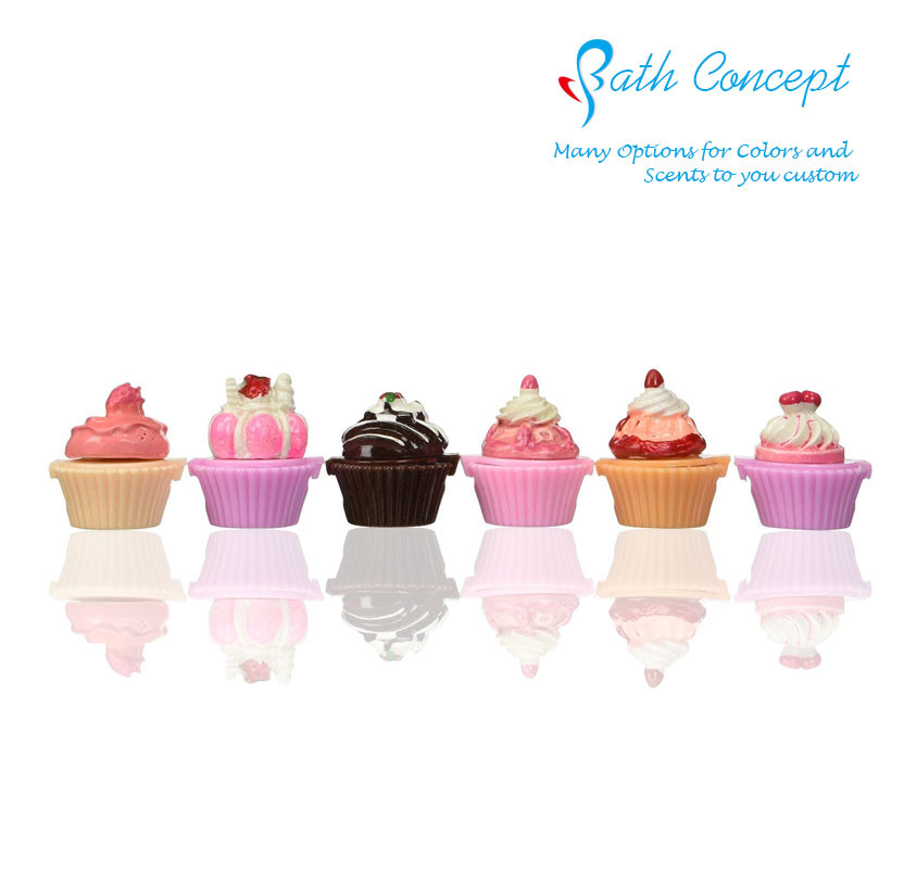 Brand Custom Cupcake Lip Gloss cute with fruit scent SPF15