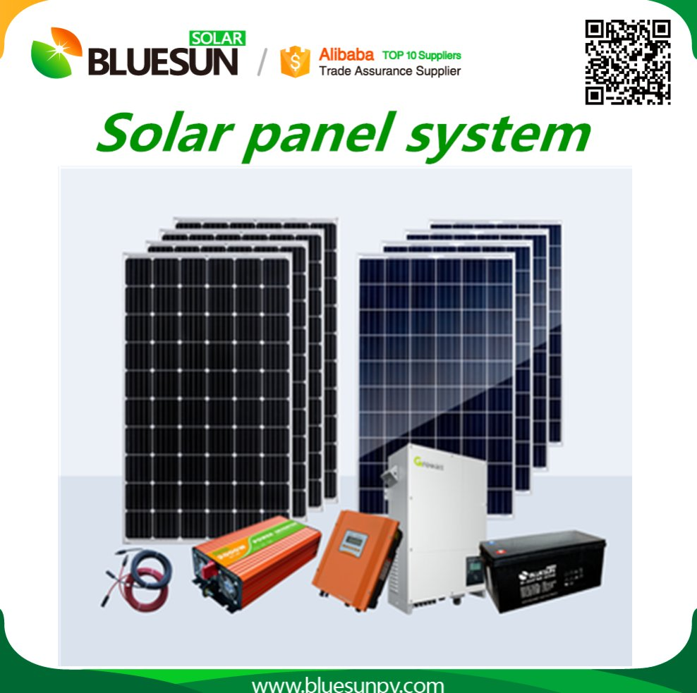 Bluesun long warranty A grade pv panel 12v 10w solar panel for home with good price