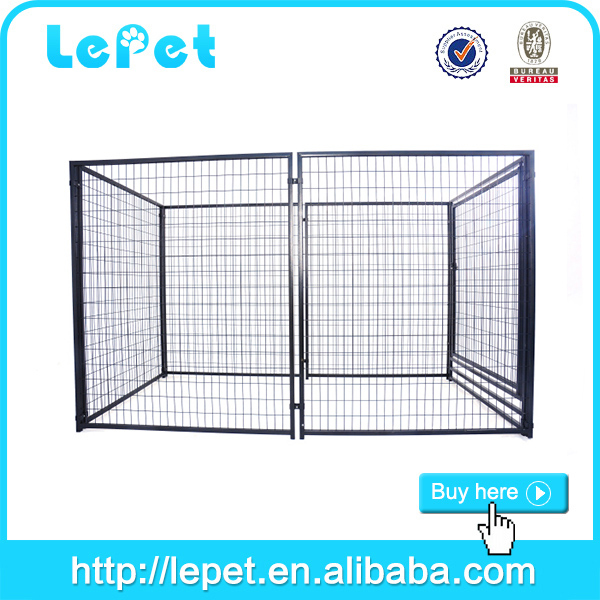 large iron chain link luxury dog kennel