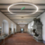 Round ring led linear light pendant light with aluminum profile high quality