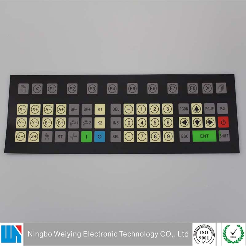 Customized membrane switch printing tactile keypad