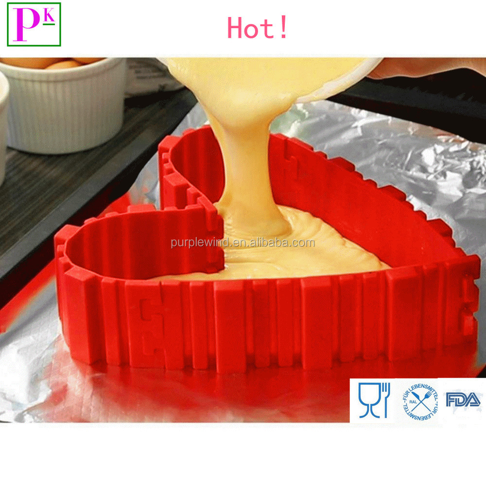 Silicone bakeware Cake Mould Heart Bakeware Kitchen Tool Magic Bake Snakes