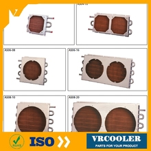 customizing solution medical devices tube fin heat exchanger consist of stainless steel tube expanded into copper fin
