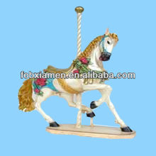 Novelty resin mini toy carousel horse