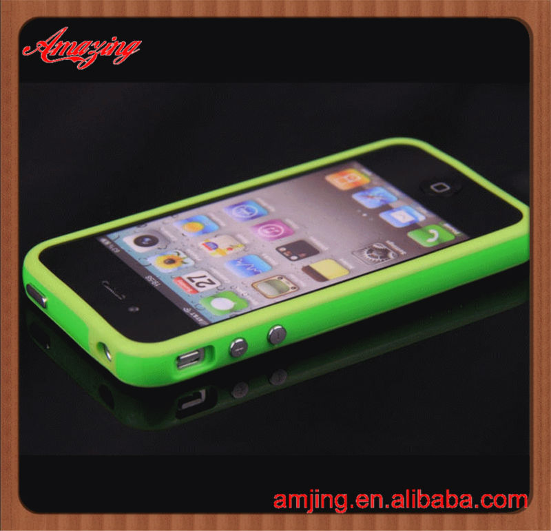 High quality paypal accept for iphone 4 bumper silicon case