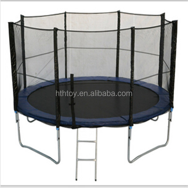 Hot sale big trampoline with safety net with ladder
