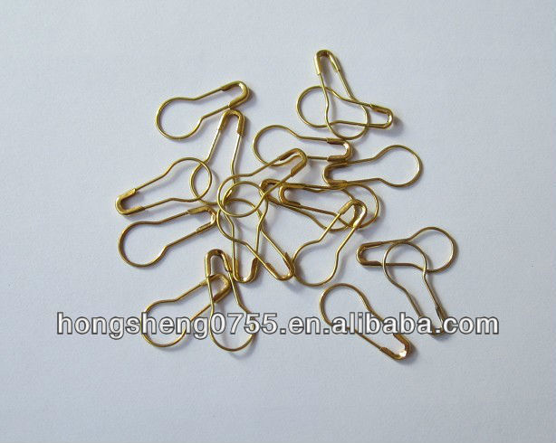 Bulb Shaped Safety Pin With Gold Color In Bulk Price
