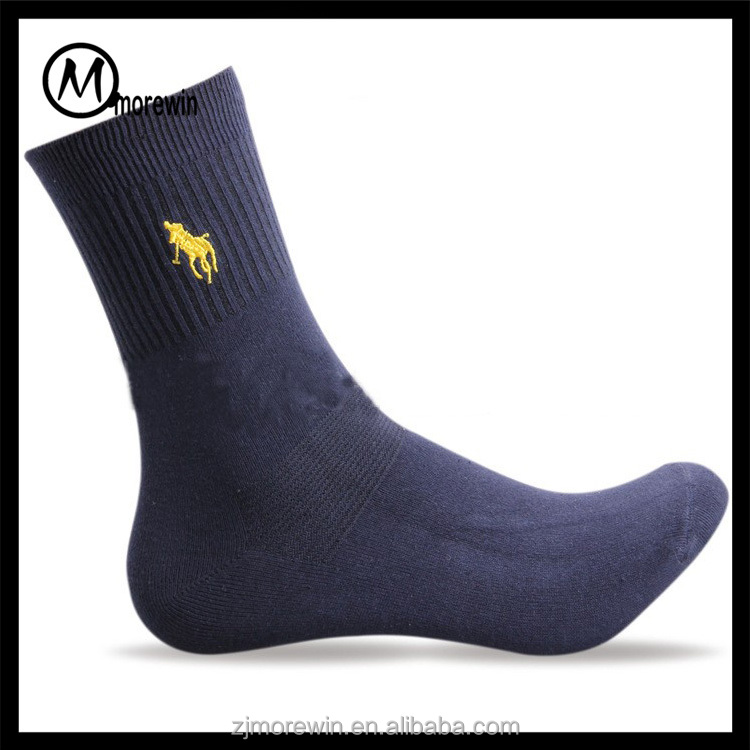 2017 Morewin brand polo men socks cotton flax in tube socks embroidery casual business socks