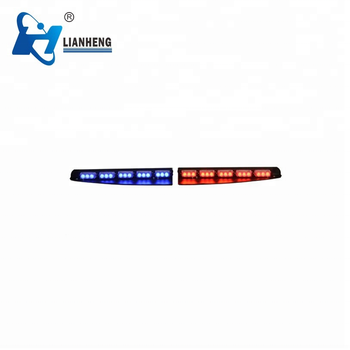Super BRIGHT 30 LED dual color 3 watt per led split visor light bar LTDG185T-Dual