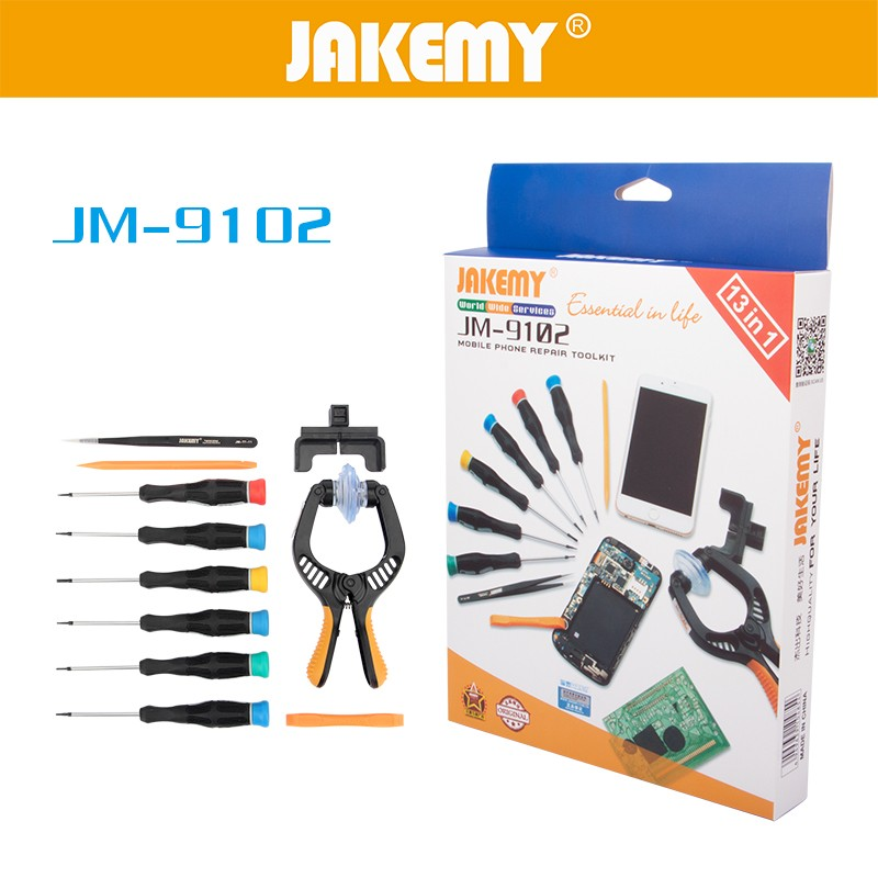 Professional electronic maintenance tool kit with sucker for mobile phone disassembly