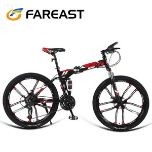 Double disc 26inch foldable land rover folding mountain bike