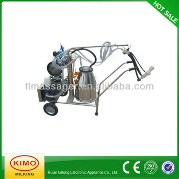 Electric Vacuum Pump-typed Single-barreled Mobile Milking Machine For Nanny Goat