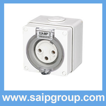 IP66 3 Round Pin 32A Three Phase Industrial Socket (56SO332)