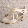 Custom Made Fabric Lace Wedding Shoes