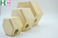 Accept Custom Order and Wood Material unfinished wood box with sliding lid