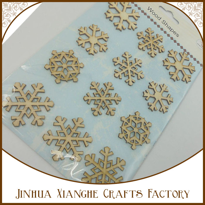 Custom laser cut wood carving unfinished wood craft,art and crafts items snowflake wood shapes