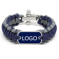 Anniversary,Gift,Party Occasion and Unisex,Men's,Women's Gender paracord bracelet with logo