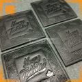 custom embossed leather patch logo leather label tag
