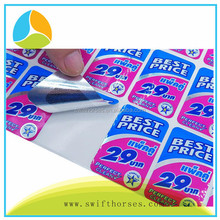 Printing Custom Logo Waterproof Self Adhesive Packaging Label,Glossy Silver PET Label and Sticker.