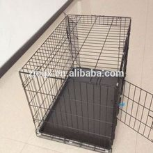 48-inch xx-Large Black Folding Pet Dog Cage Crate Kennel ABS Plastic Pan tray