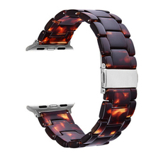 Fashion Resin Iwatch Band Bracelet With Copper Stainless Steel Buckle For Apple Watch Series