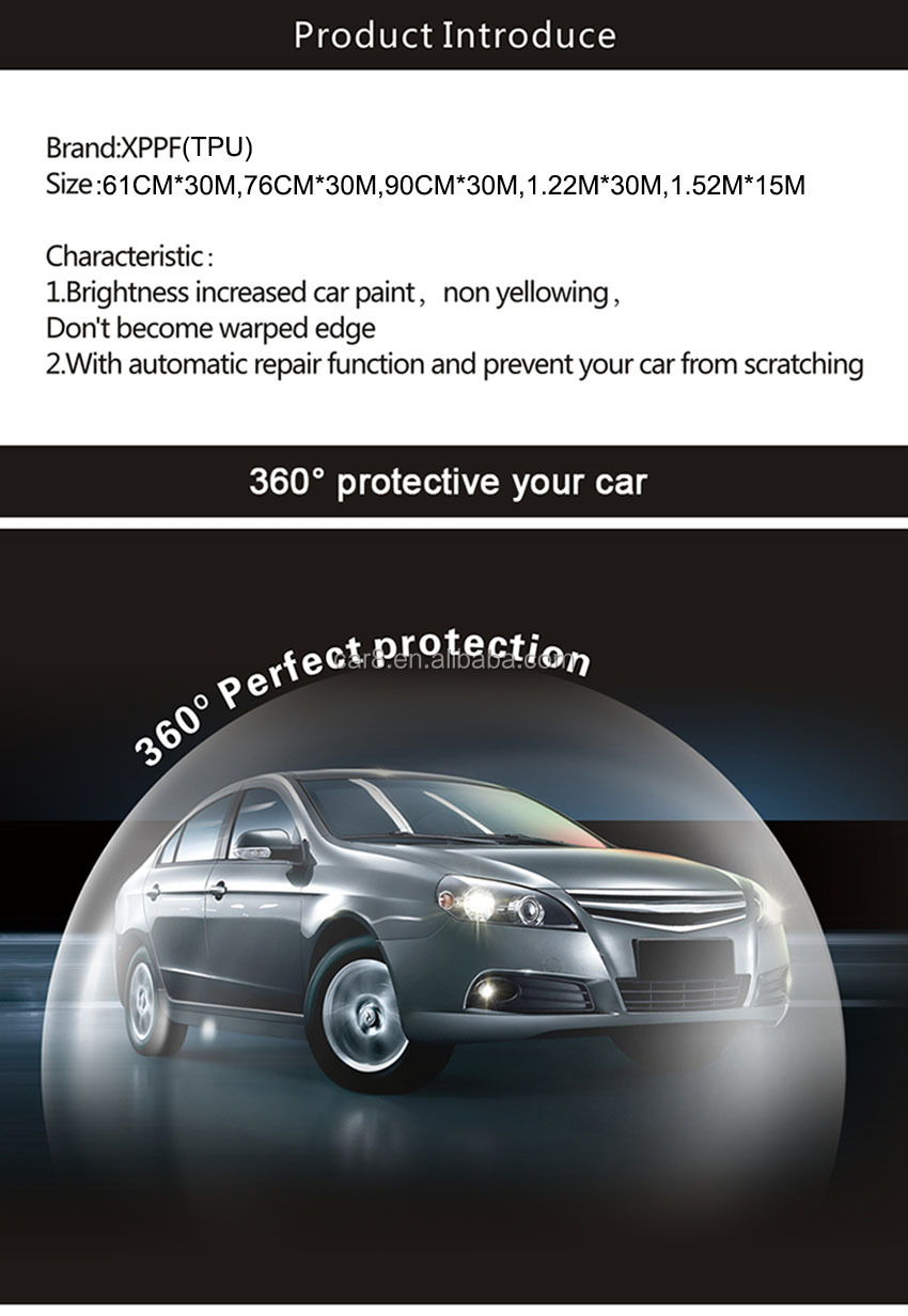 Carlas TPU glossy white car body paint protection film for wall