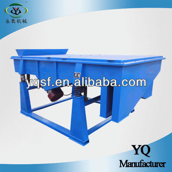 YongQing produced horizontal linear vibro separator for sand and gravel separating with dual-motors and durable structure