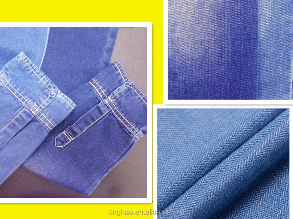 100 cotton indigo dobby denim fabric price for mens shirt