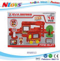 DIY Hot Sale EVA Assembling Fire Set 16PCS Novelty toys for kids
