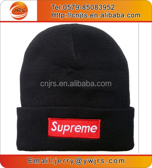 OEM men winter hats custom logo black beanie hat caps for sale
