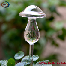 Hand-blown Plant Watering mushroom Glass Aqua Globes