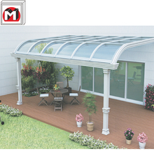 Customized Waterproof Aluminum Sunrooms Curved Glass Balcony