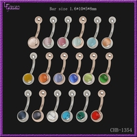 Color Changing Body Jewelry Opal Barbell Banana Belly Navel Ring
