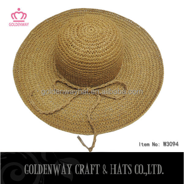 ladies cheap straw beach dress hats to decorate wholesale