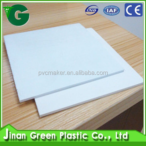 Green 2016 hot sale Cheap Price PVC Foam Board/sheet/Sintra/Forex