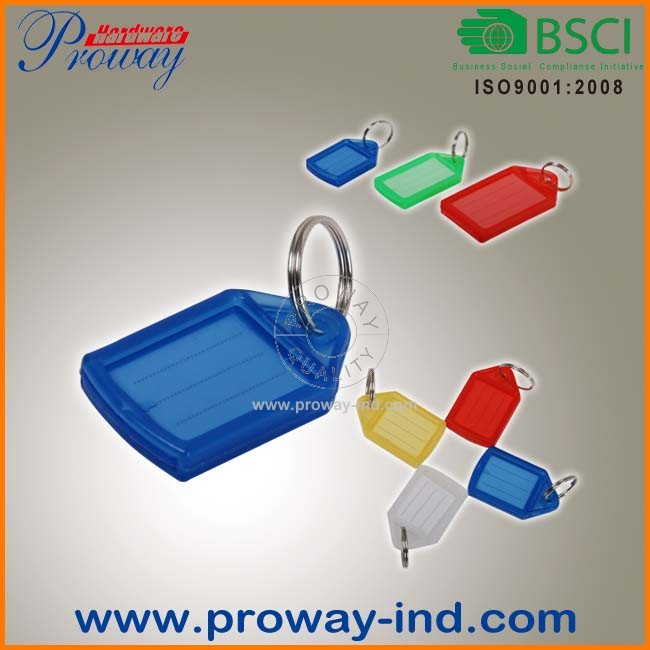 cheap plastic key label,key tag with paper