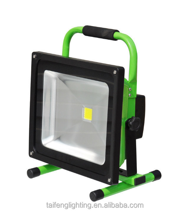 IP65 30W Led Work Light, Rechargeable Led Flood Light, Portable Led Lamp with Stand