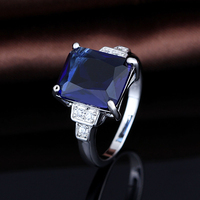 S925 Sapphire Stone Ring Designs For