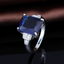 S925 Sapphire Stone Ring Designs For Men