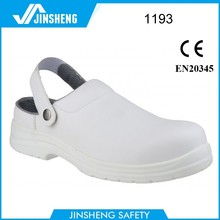 White oil Anti-slip Steel toe cook safety shoes
