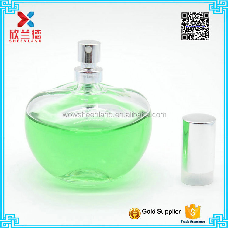 new design wholesale large decorative perfume 100ml ball shape glass bottle clear perfume bottle discount