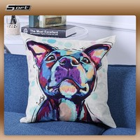 Lovely Dog print Pillow Home Decorative cushion cover