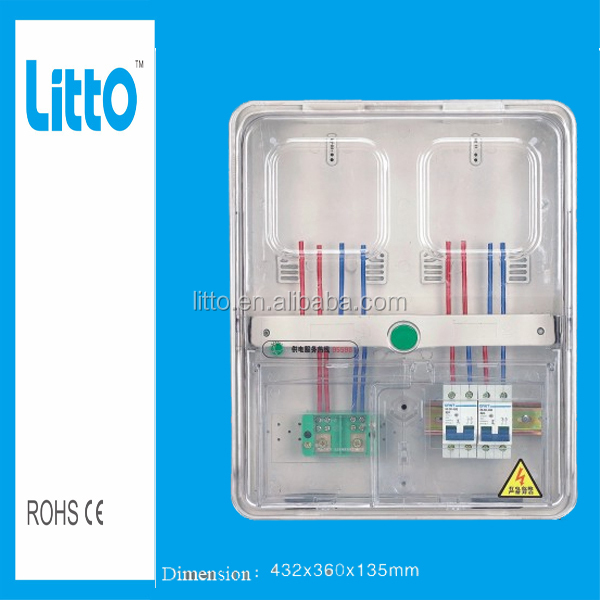 transparent case three phase energy meter box IP54 Electronic meter box