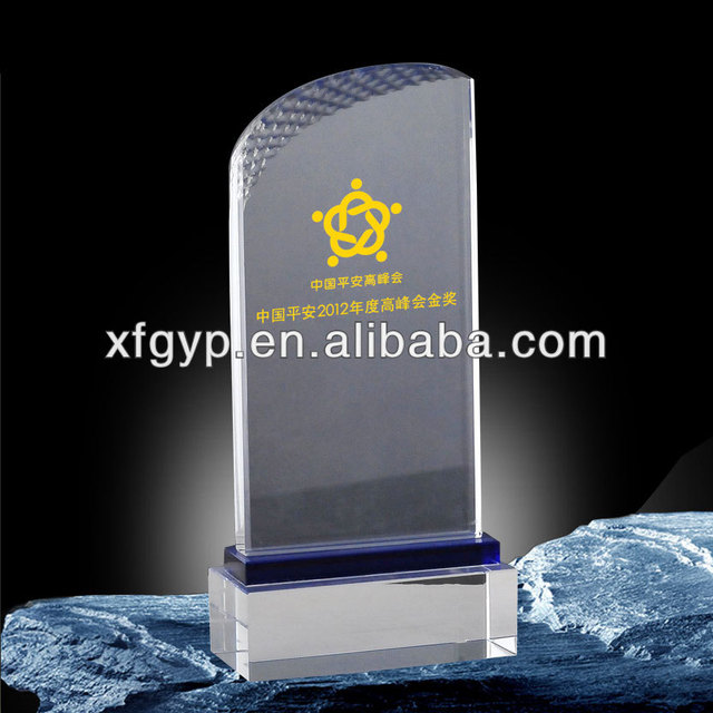 Blank Crystal Trophy , Crystal Plaque Award