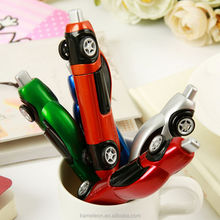customized logo Race Car Shape Adverstising Pen Plastic Ball Pen Ballpoint Pen
