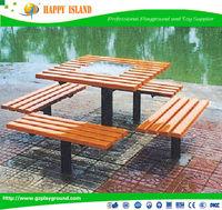 newest desigh antique Double arch outdoor garden bench Wooden Garden Benches