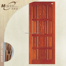Indian style standard dimension interior bedroom solid wood door